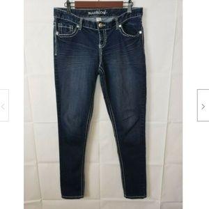Maurices Dark Stone Wash Stretch Skinny Jeans